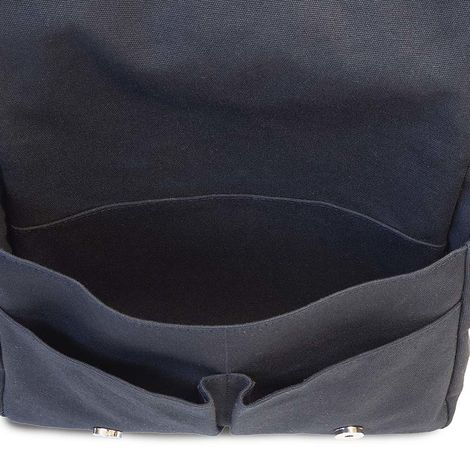 navy blue cotton canvas messenger bag
