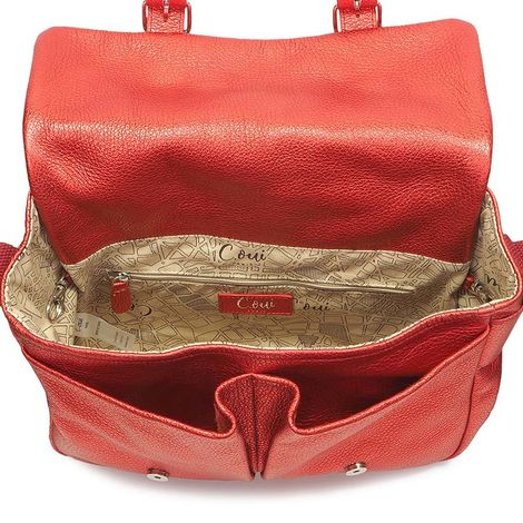 RED SATCHEL BAG OUESSANT 52
