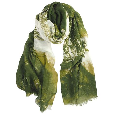 GREEN  FERN PRINTED SCARF