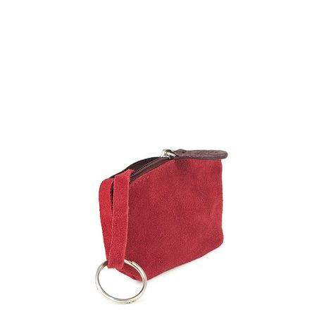 RED LEATHER COIN PURSE