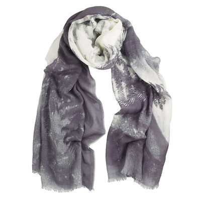 DARK LILAC WOOL SCARF