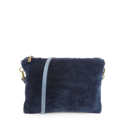 LIPEZ 28 BLUE CLUTCH BAG