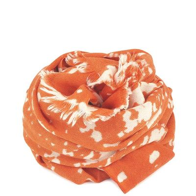 FOULARD JAPON LAINE ORANGE