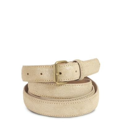 BEIGE LEATHER BELT  25 MM