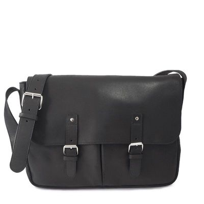 BLACK BREME 13  MESSENGER BAG- size L