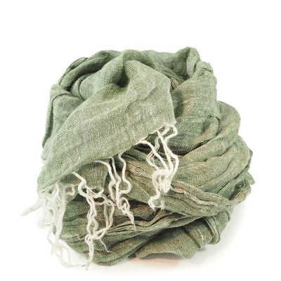 GREEN CHAMBRAY SCARF