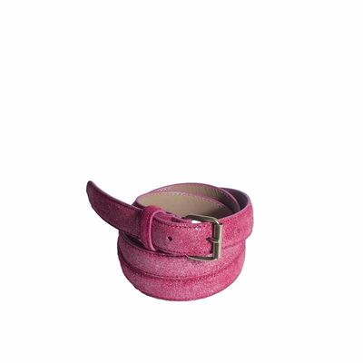 RED LEATHER BELT  25 MM