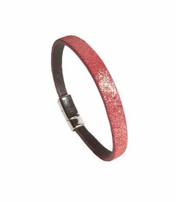 RED LEATHER BRACELET-