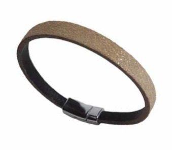 BEIGE LEATHER BRACELET-