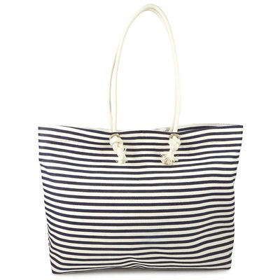 SAILOR STRIPE COTTON TOTE BAG