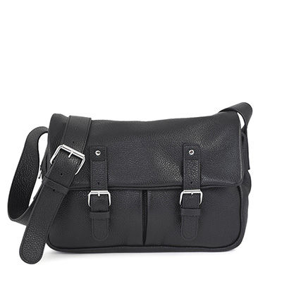 BONN 02 BLACK SATCHEL BAG BAG