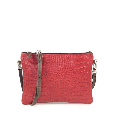 RED CROCO CLUTCH  TOSCANE 28