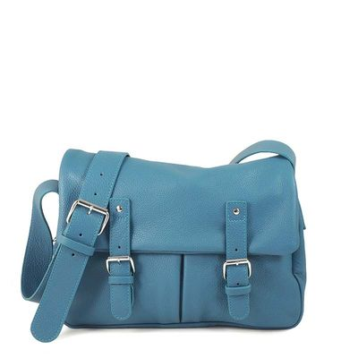 BONN 02 DENIM BLUE SATCHEL BAG