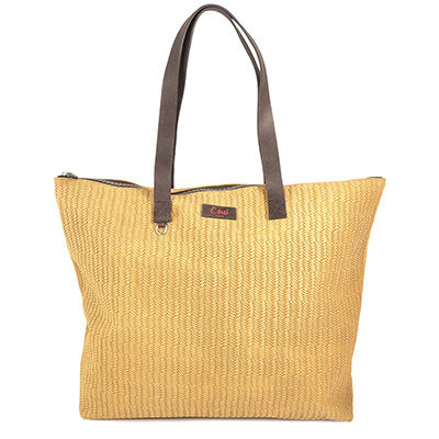ITALIAN PRINTED LEATHER TOTE BAG BAMBOU 37