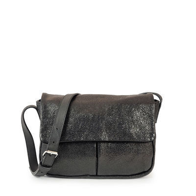 BLACK LEATHER CROSSBODY  BRISTOL 4