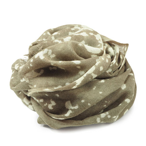 TAUPE WOOL JAPAN SCARF