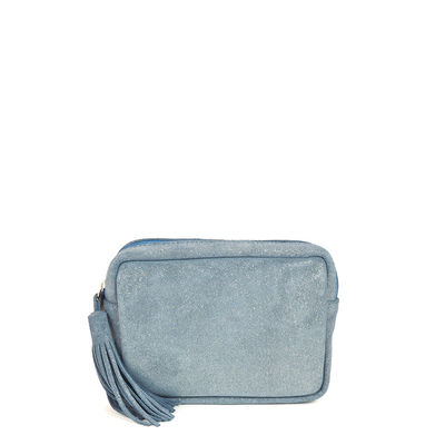 CANNES 27 BLUE LEATHER CASE