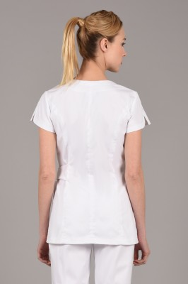 Ellixir Tunic White Green detail