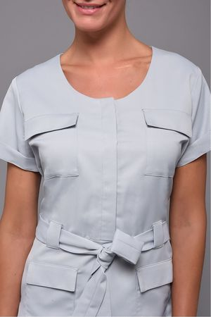 Tunic F Saharienne Pale Grey