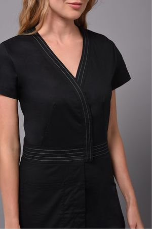 Black Volupté Tunic taupe detail
