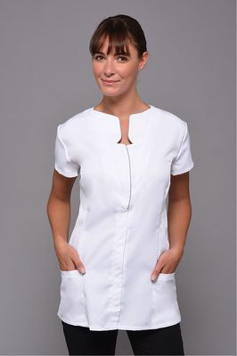 White Graphic Tunic