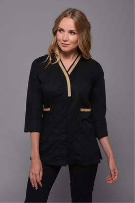 Black Ellipse Tunic gold detail