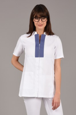 White/Blue Vogue Tunic