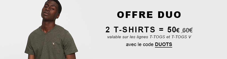 Offre  DUO Tee-shirt manches courtes