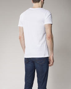 T-shirt homme straight Chevignon col rond blanc