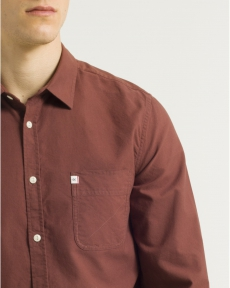 CHEMISE ROUGE BURGUNDY CL OXFORD TOGS
