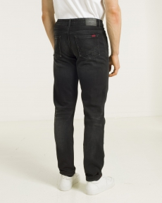 DENIM WASH 3 P-TAPERED BLACK