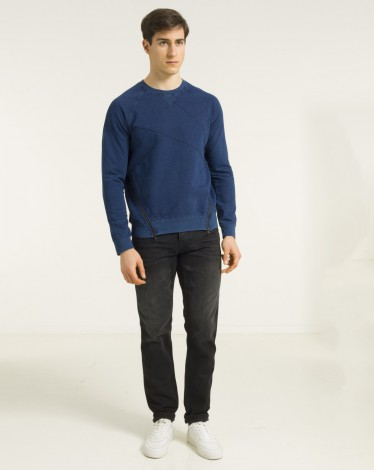 PULL INDIGO SWEAT S-STITCH