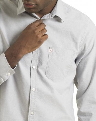 CHEMISE GRIS CHINE OXFORD TOGS