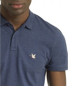 POLO BLEU PETROLE CHINE O-TOGS SLIM