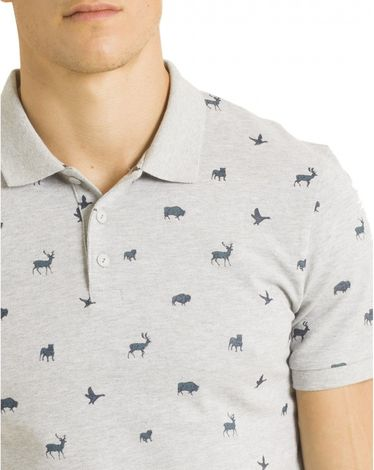 POLO GRIS CHINE NATURE