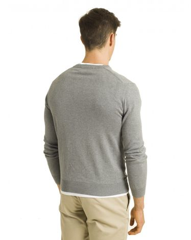 PULL GRIS CHINE V-TOGS