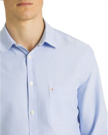 CHEMISE STRAIGHT BLEU CLAIR CL OXFORD TOGS