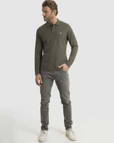 POLO VERT OLIVE CHINE OL-TOGS