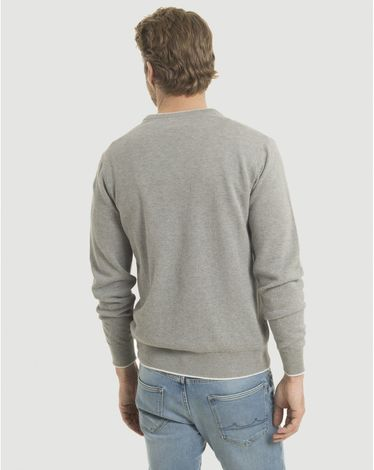 PULL GRIS CHINE CLAIR V SPORT