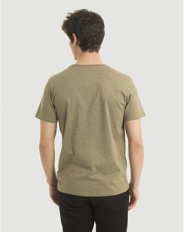 TEE-SHIRT VERT OLIVE CHINE T-TOGS
