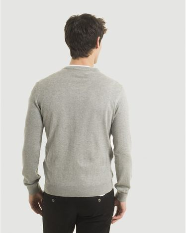 PULL GRIS CHINE CLAIR V-TOGS