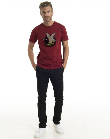 TEE-SHIRT ROUGE POURPRE UNLIMITED TEE FELT