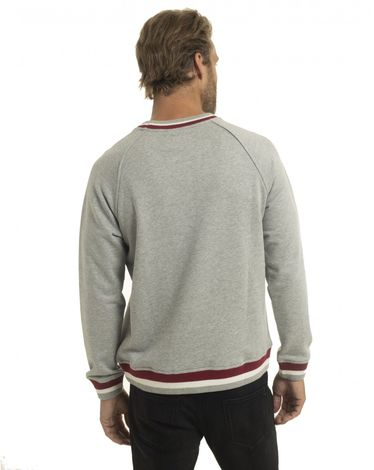 SWEAT SHIRT GRIS CHINE CLAIR BACHAUMONT