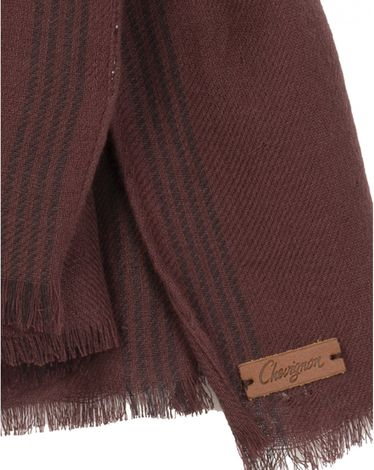 ECHARPE ROUGE BURGUNDY CHECKY DOUBLE