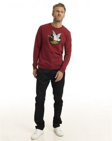 SWEAT SHIRT ROUGE POURPRE TOGS UNLIMITED