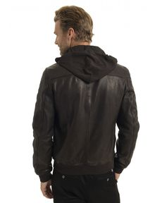 2c40e4fe5f814 Blouson Cuir Homme Cacao Chevignon B-ONE Collection Permanente