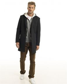 MANTEAU GRIS ANTHRACITE CHESTER WOOL