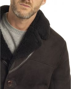 MANTEAU CUR CACAO LONG SHEARLING
