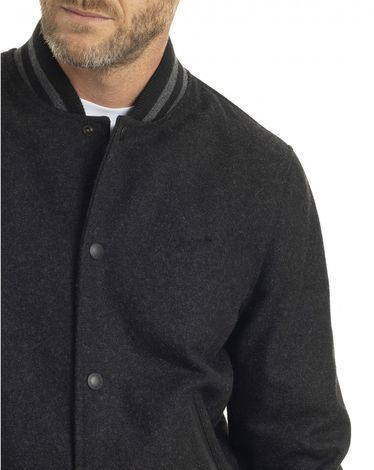 BLOUSON GRIS ANTHRACITE WOOLY