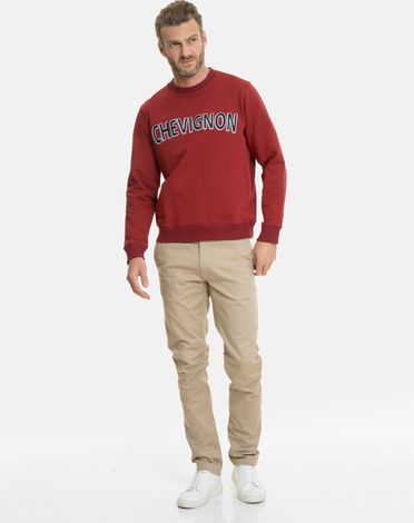 SWEAT SHIRT ROUGE POURPRE MARCELLO